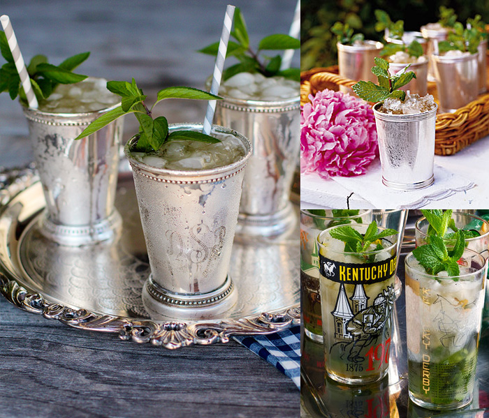 Kentucky Derby Mint julep drinks presentation