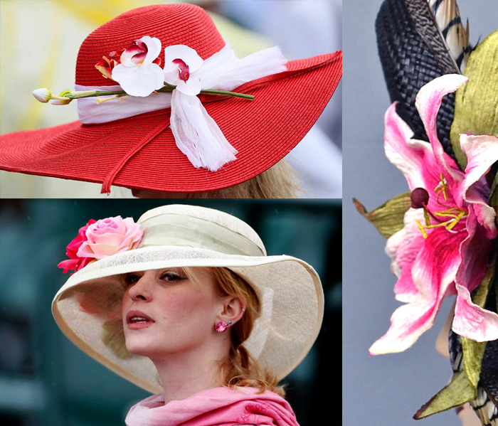 Kentucky Derby flower hats ideas