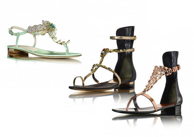 Luis Onofre different flavours collection gem sandals with crystals