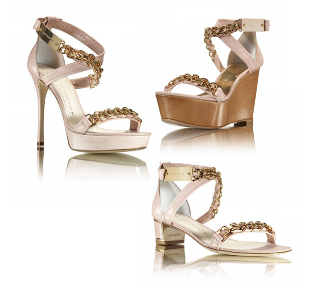 Luis Onofre different flavours collection light pink gold chains shoes platforms