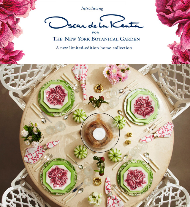 Oscar De La Renta Home home and decor: oscar de la renta's new decor line