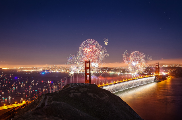 San Francisco Fireworks for the fourth of july