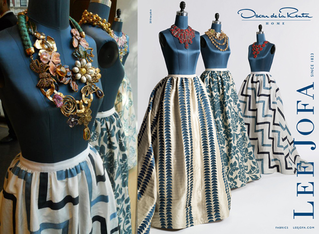 Oscar de la Renta's couture décor fabric comes to your Home Oscar de la Renta's couture décor fabric comes to your Home oscar de la renta and lee jofa fabric collection 1