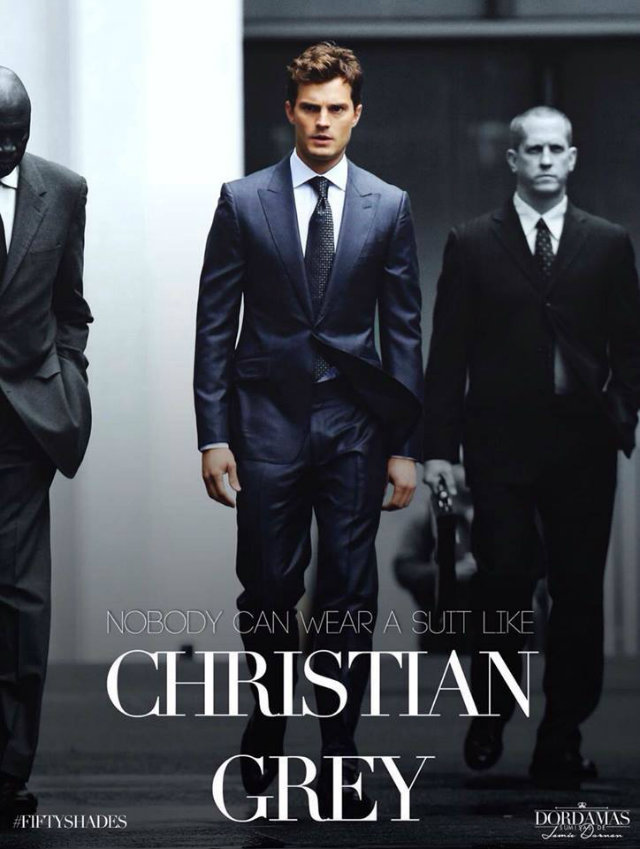 man christian grey in the movie adaptation of fifty shades