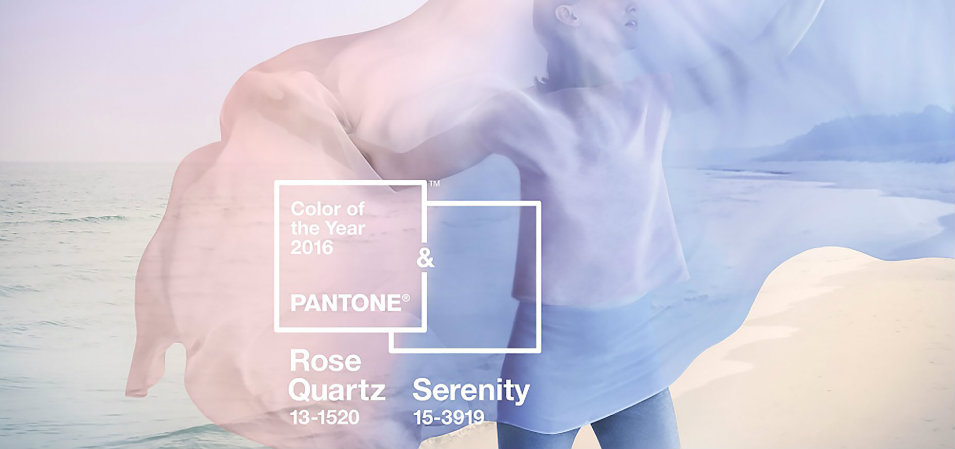 Pantone Color of the Year 2016* Rose Quartz and Serenity