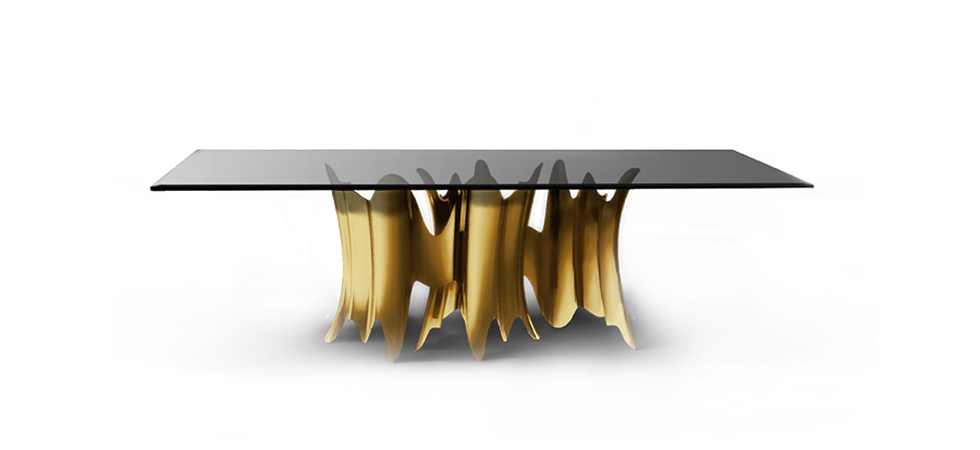Koket Stars At The Set Design Of Empire Serie Obssedia Gold Dining Table By