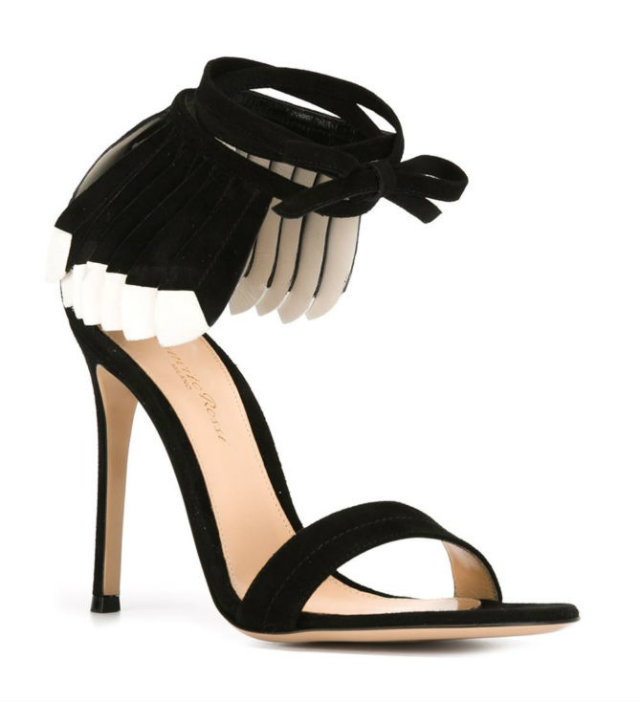 The features add an early touch to these summer sandals by Gianvito Rossi.