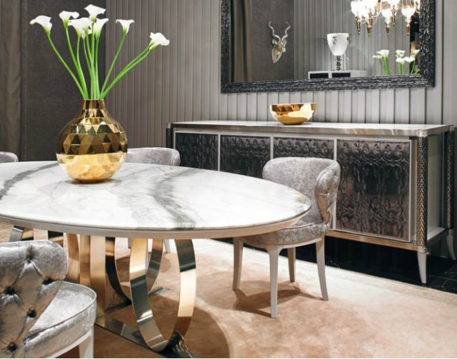 Dining Table With A Stunning Base In Room By Visionnaire Home Philosophy