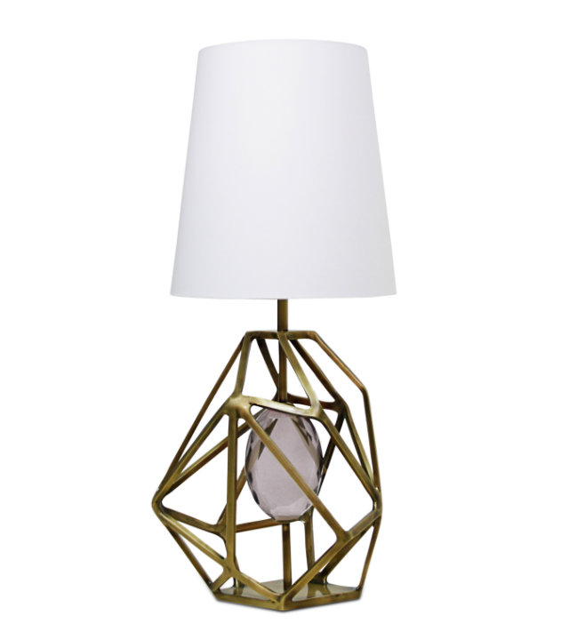 The Gem table lamp represents the journey of a gem's rough beginnings to exquisite end.
