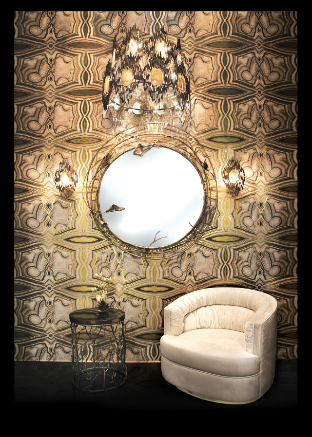 KOKET used the Rock On print in a window display for COVET Lounge in Paris.