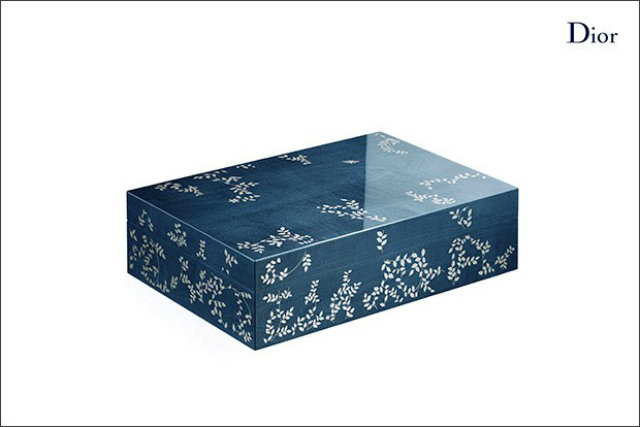 Ornate box with a floral pattern from the Dior Home collection.