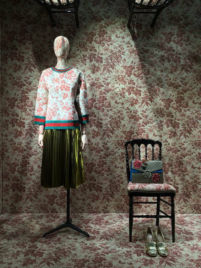 Gucci New York window display 2016 granny florals Granny Florals on the Rise Granny Florals on the Rise 6