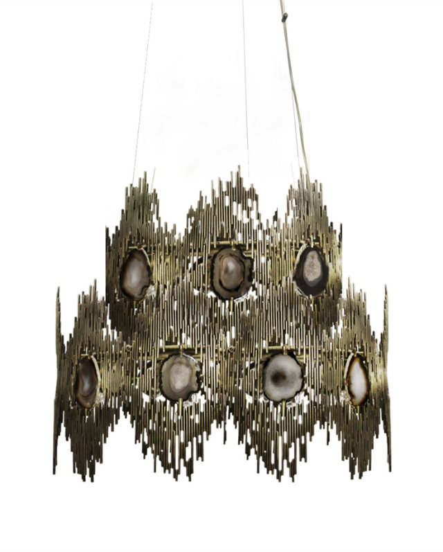 The striking silhouette of the Vivre 2-Ring Chandelier. safari Serengeti Seduction: An Exotic KOKET Safari Serengeti Seduction An Exotic KOKET Safari 6