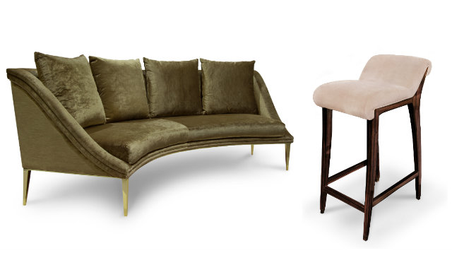 The new Geisha Curved sofa and the Incanto Barstool. safari Serengeti Seduction: An Exotic KOKET Safari Serengeti Seduction An Exotic KOKET Safari 9