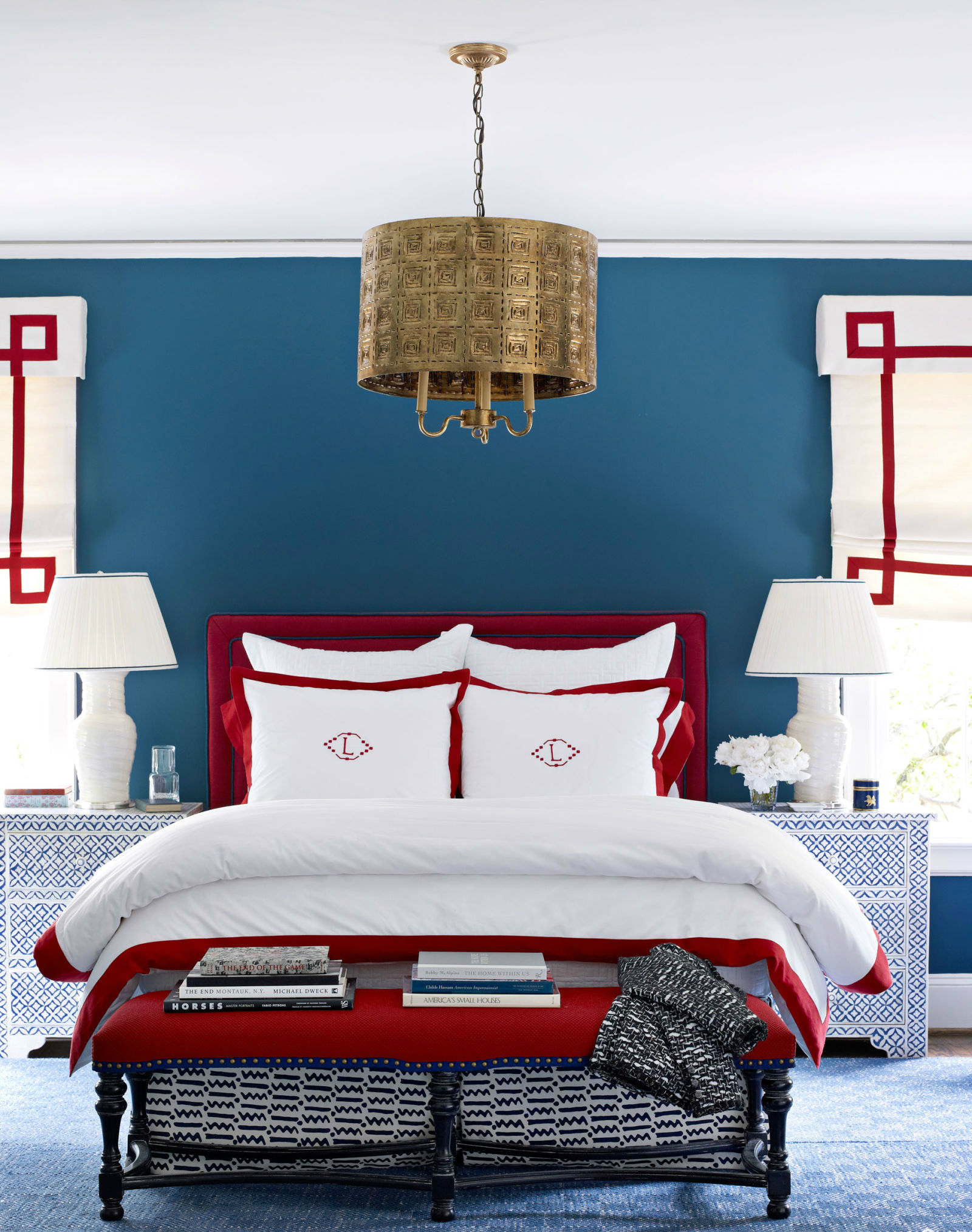 10 Chic Ways to Decorate in Red, White and Blue bedroom ideas