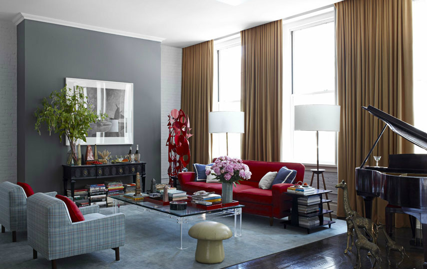 10 Chic Ways to Decorate in Red, White and Blue luxury homes living room