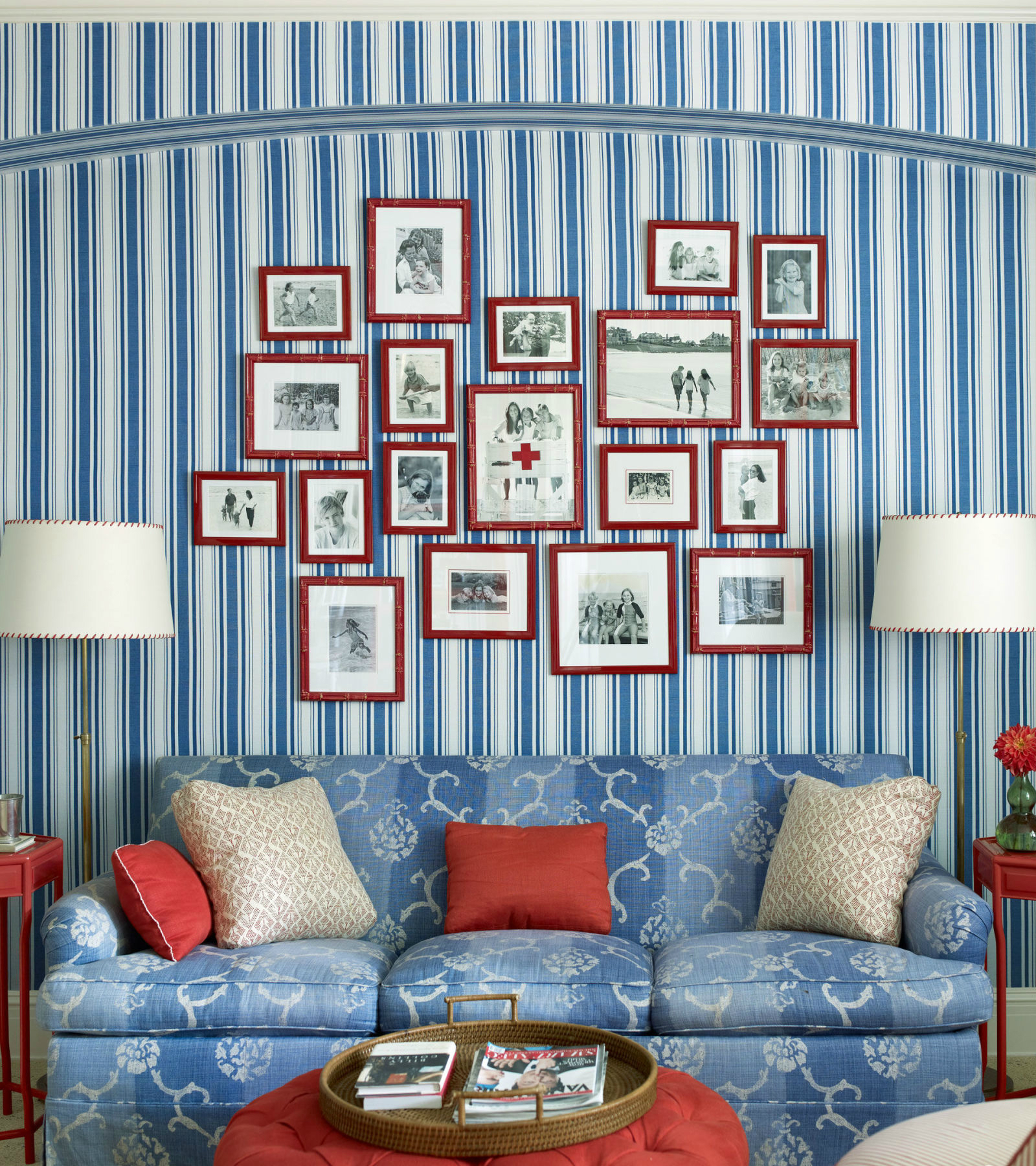 10 Chic Ways to Decorate in Red, White and Blue stripes