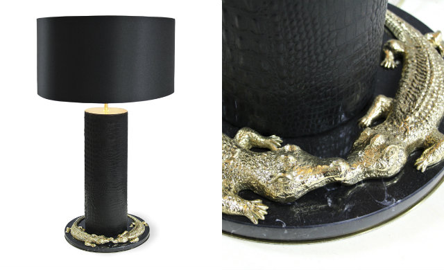 Take a walk on the wild side with the Reptilian Table Lamp. koket A Luxury Design Love Affair: KOKET & Boca do Lobo A Luxury Design Love Affair KOKET Boca do Lobo 10