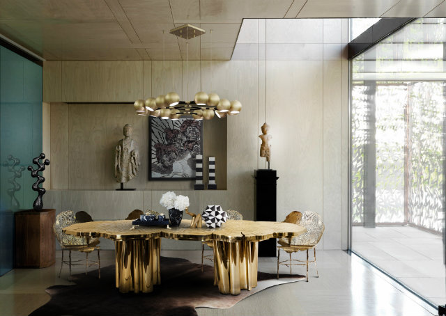 The Fortuna dining table is an iconic Boca do Lobo piece.