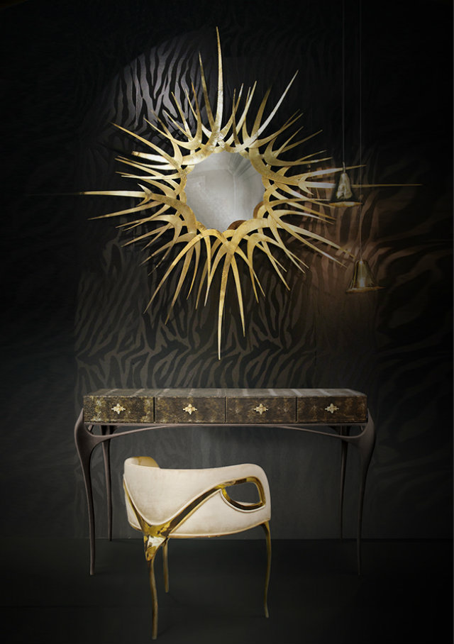 A luxury design love affair koket boca do lobo for Black gold interior design