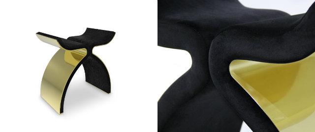 Tantalizing black and gold Bolvardi Bench.
