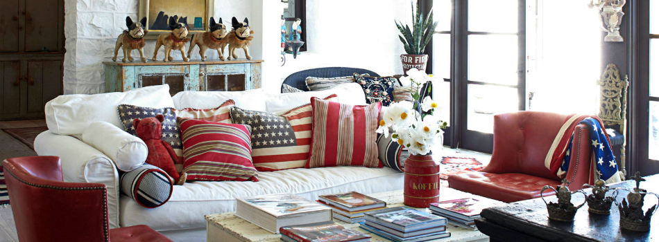 red white and blue living room ideas