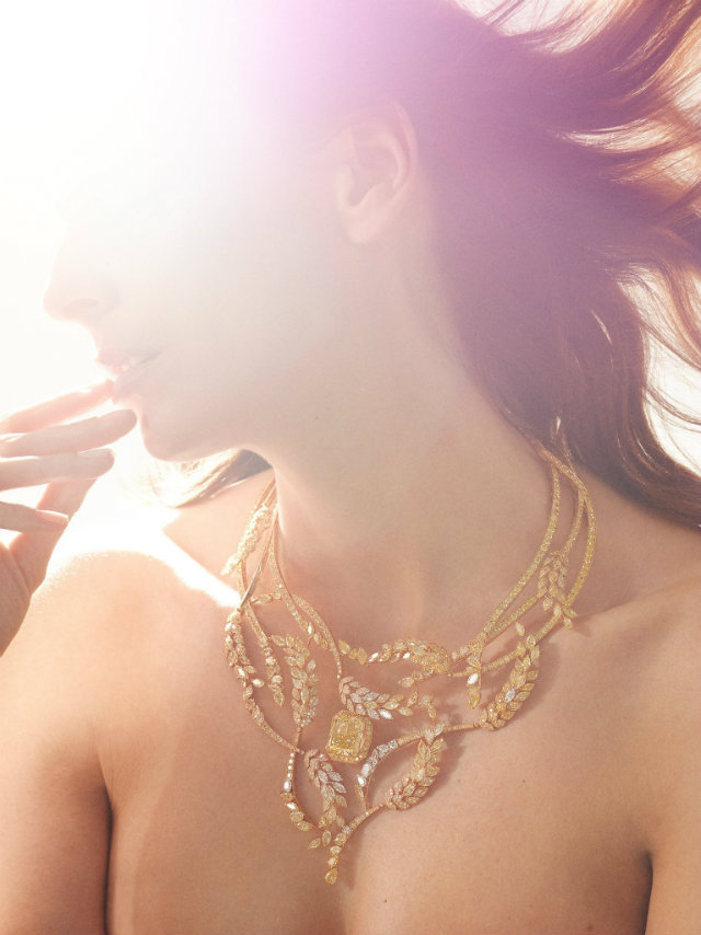 """The crown jewel of the collection is the """"Fête des Moissons"""" necklace."""