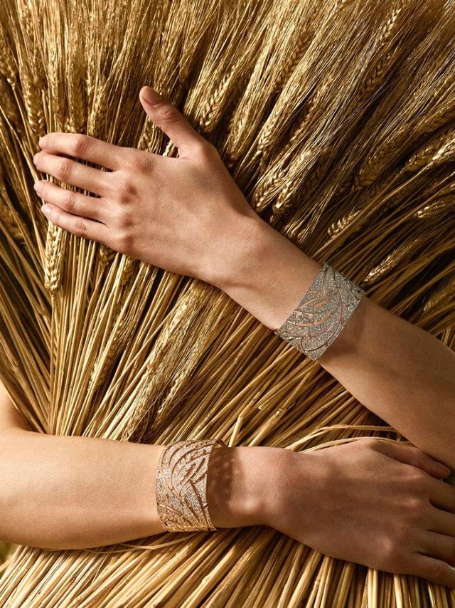"""Diamond bracelets from the """"Champ de Blé"""" series of Les Blés de Chanel."""