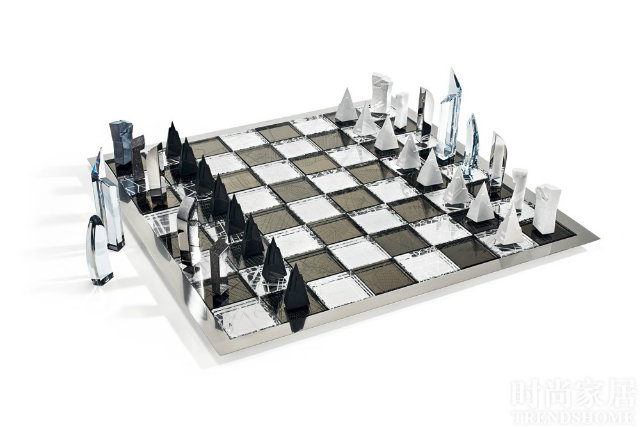Named Architecture in the City, this chess set was designed by Daniel Libeskind.