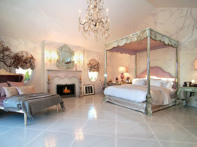 Believe it or not, this is Ozzy Osbourne's bedroom.