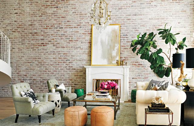 Lauren Conrad's Beverly Hills penthouse living room exudes chic femininity.