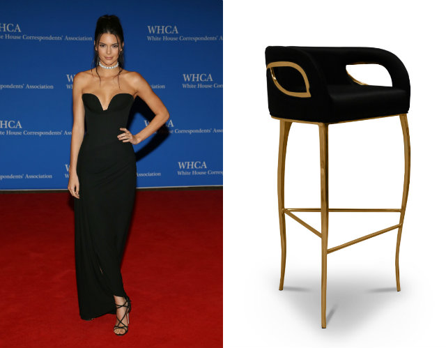 Jenner chose a simple black Vivienne Westwood gown with plunging neckline for the White House Correspondents dinner in 2016.