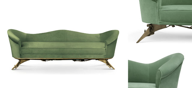 The Flirty Colette Sofa Is Upholstered In Balanced A Natural Tinted Mint Color Color