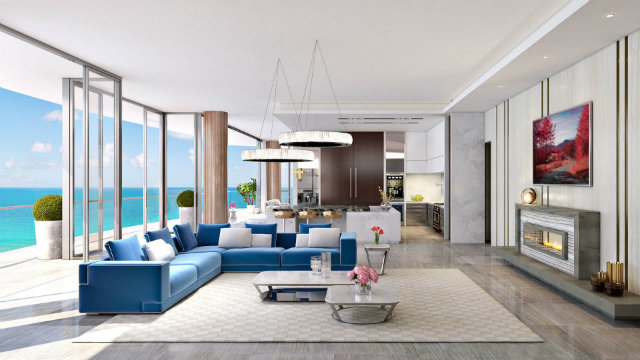 When complete, the Estates will be composed of two 50-story towers with a total of 256 luxurious residences.