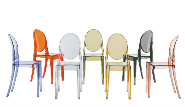 Starck is known for his simple but inventive structures, like the famous ghost chairs.