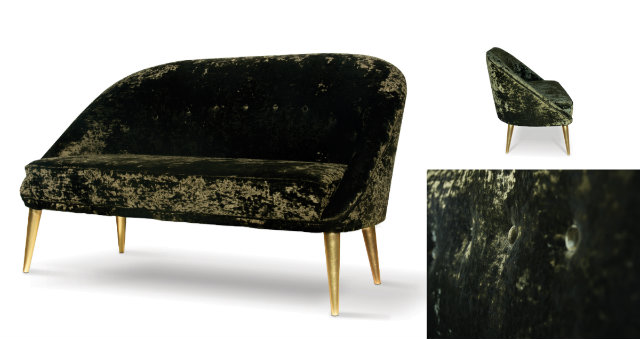 Classic in its silhouette, the lustrous curves of this sofa complement those of the modern day woman.