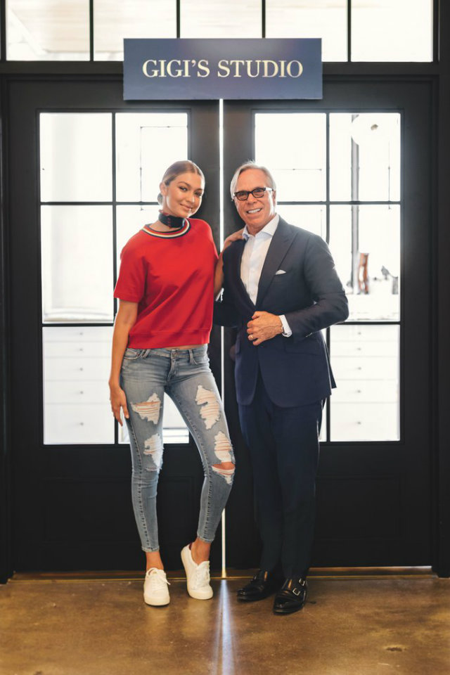 The Gigi Hadid first began her partnership with Tommy Hilfiger when she walked for one of his shows.