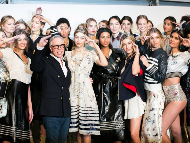 """""""I think our collection celebrates the iconic Tommy lifestyle and mixes a bit of everything: there are styles that are really hippie-chic, styles that are sporty streetwear, and styles that are tomboy but girly; everyone's going to love a different part of it,"""" said Hadid."""