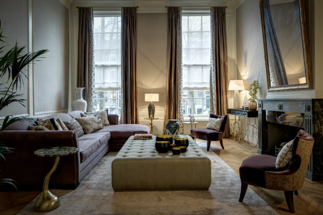 Living room of a recent Amsterdam canal house project.
