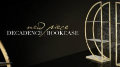 The Decadence bookcase is a breathtaking blend of Art Deco inspiration and Asian influence.