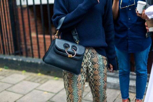 And these fabulous reptile print pants!