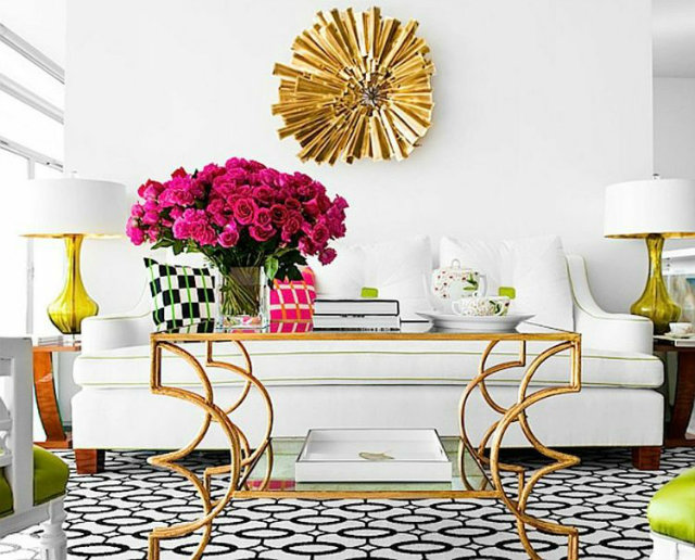 Brass fixtures and accents will continue to be big in home décor trends for this fall.