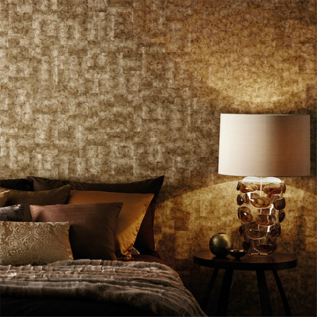 Bold wallcoverings, especially geometric, are going to be big for fall.