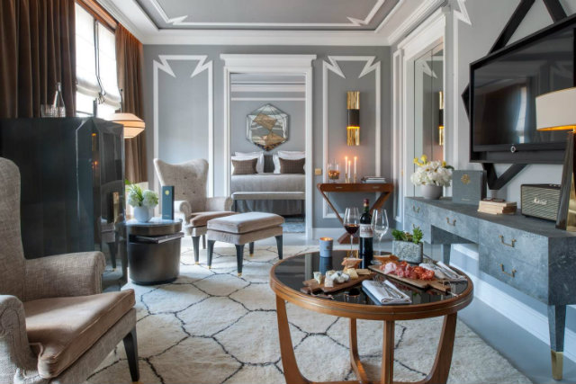 The private penthouse apartment includes custom furniture.  nolinski paris Enter the Jean-Louis Deniot Designed Nolinski Paris Hotel Enter the Jean Louis Denoit Designed Nolinski Paris Hotel 4