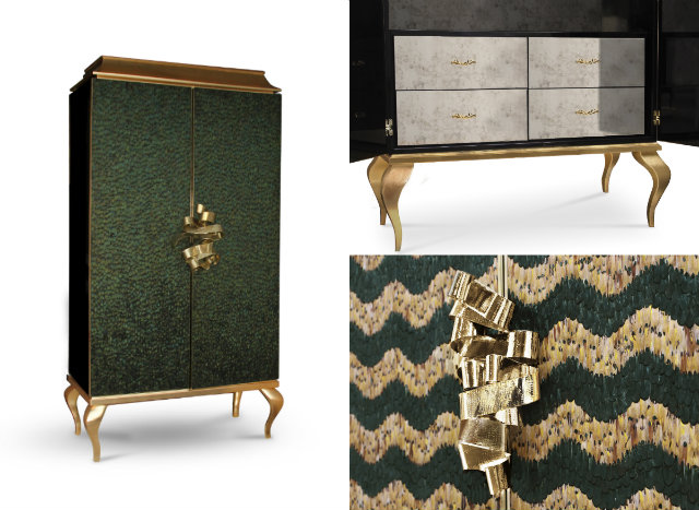 We think the peacock-feather covered Divine cabinet would elevate the space to Rihanna style standards.