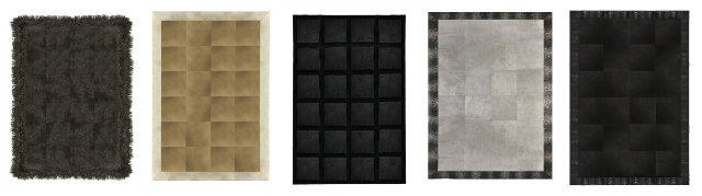 Engage in a little floor play with the KOKET floor rugs collection.