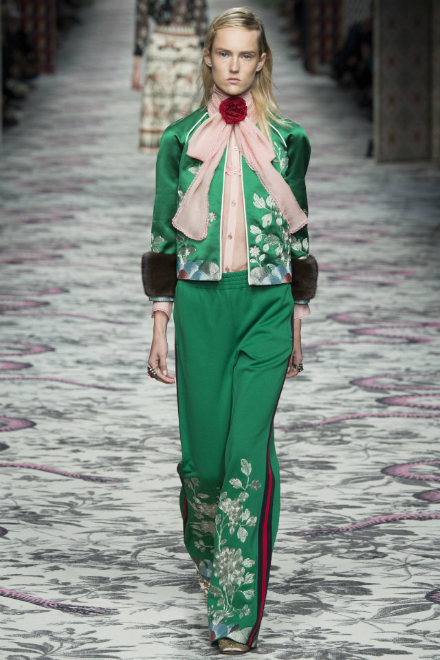 Lush meadow jumpsuit from Gucci's ready-to-wear Spring and Summer 2016 show.