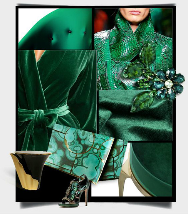 Rich and elegant, vibrant and sophisticated this rich green color trend evokes fresh botanicals and foliage.