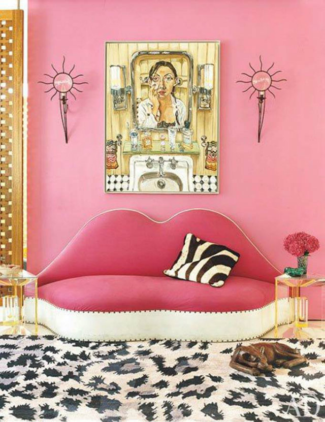 Diane Von Furstenberg's vivacious apartment in the Meatpacking District.  fashion designers Peek Inside 15 Fashion Designers Decadent Home Interiors Peek Inside 15 Fashion Designers Decadent Home Interiors diane
