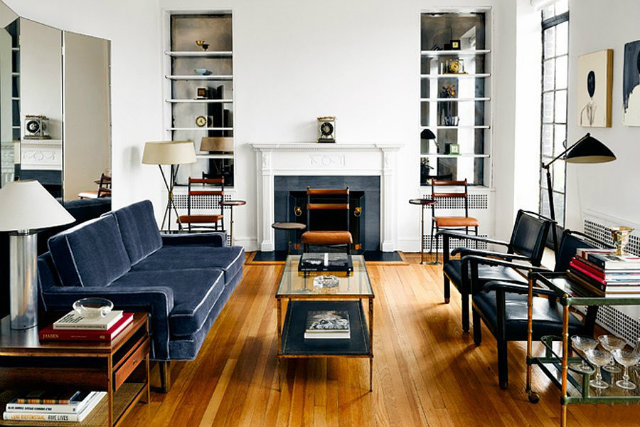 Thom Browne's Greenwich Village apartment is housed in a 1930s brick building fashion designers Peek Inside 15 Fashion Designers Decadent Home Interiors Peek Inside 15 Fashion Designers Decadent Home Interiors thom
